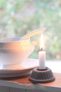 Gugelhupf Kerzenhalter Zink