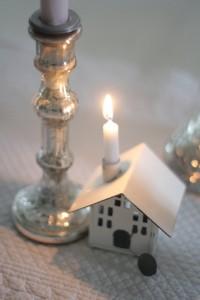 Zinkhäuschen Kerzenhalter