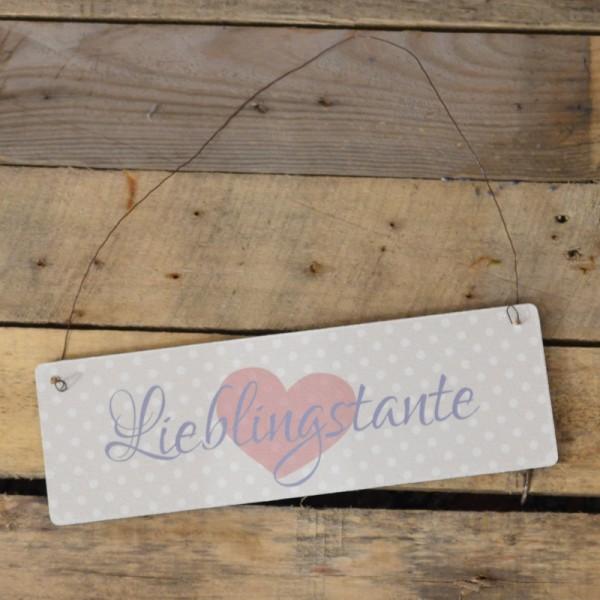 Holzschild: Lieblingstante