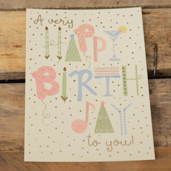 Postkarte A very Happy Birthday to you!