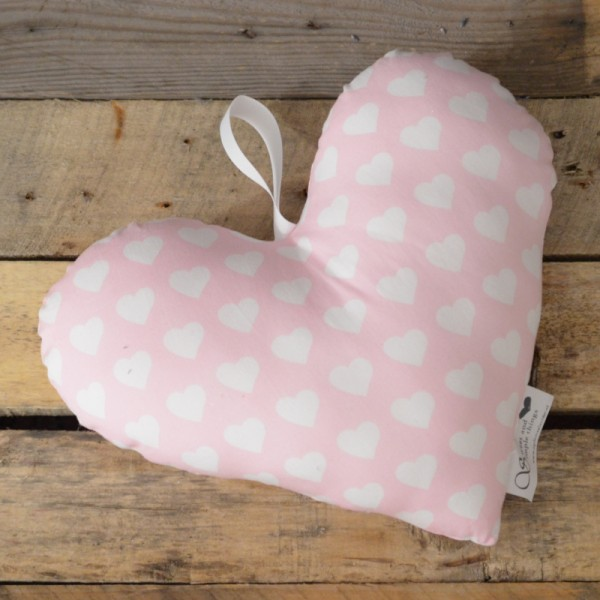 Herzkissen - rosa Herzen
