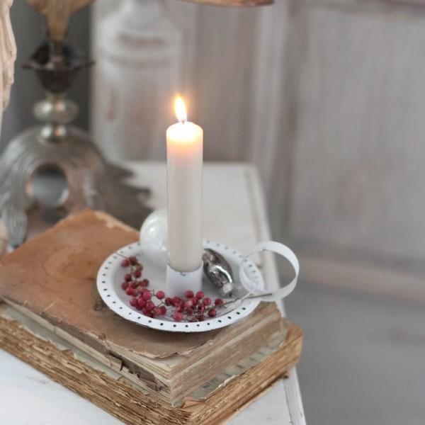 Kammerleuchter - Kerzenhalter weiß