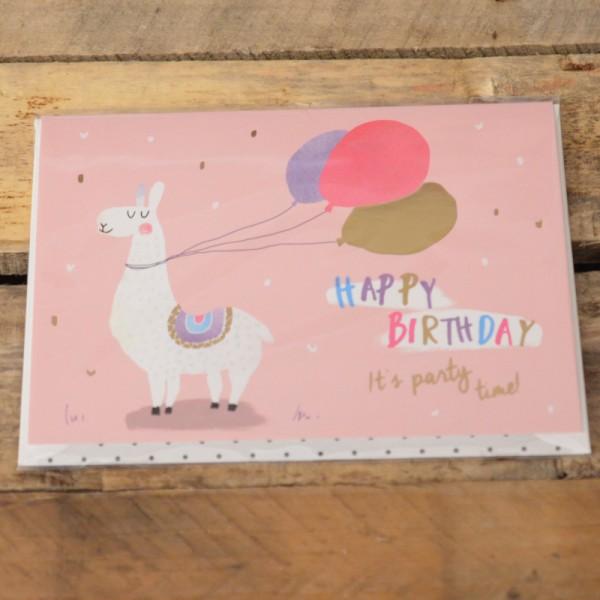 Klappkarte Happy Birthday It's party time!