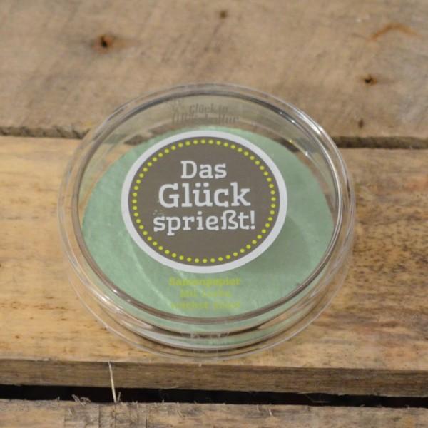 Das Glück sprießt! - Glasschale mit Samenpapier für kleine Glücksmomente