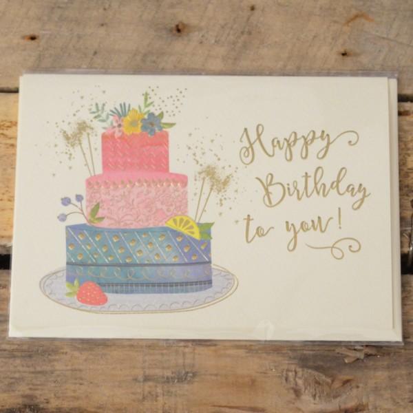 Klappkarte Happy Birthday to you!
