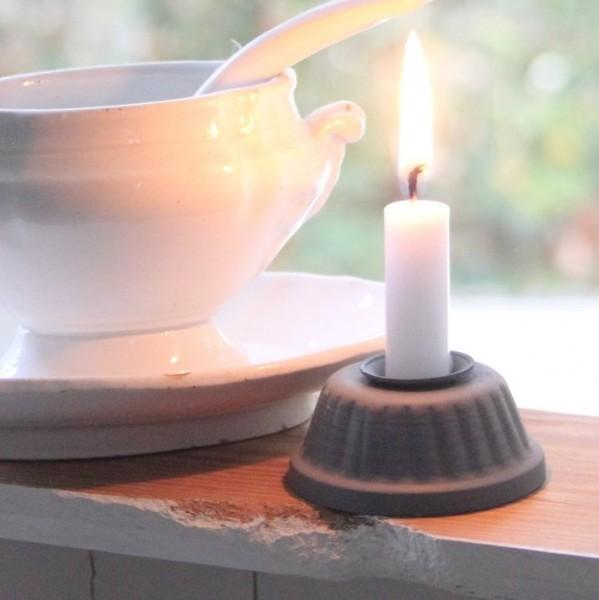 Kerzenhalter Gugelhupf Zink