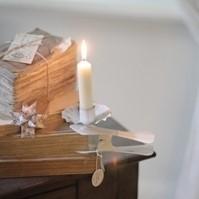 Klemm-Kerzenhalter Weiß